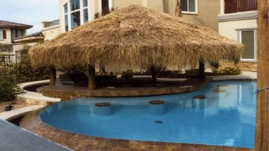 Photo of Palapa Umbrella Cowl Tiki Bbq Mexican Palm Thatch Alternative